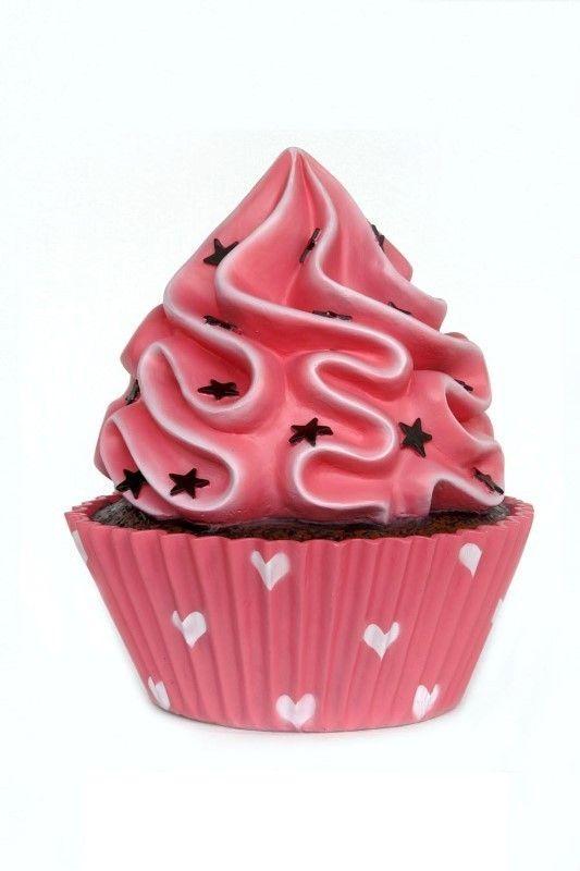 Réplica de magdalena cupcake