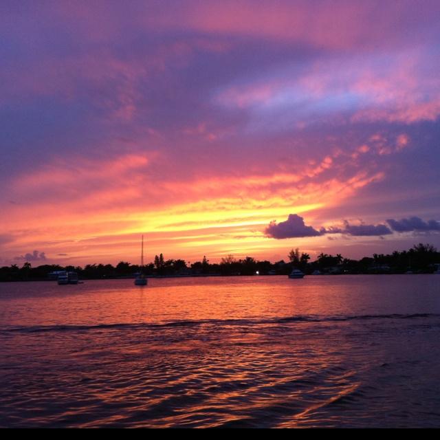 Sun set Hollywood Florida