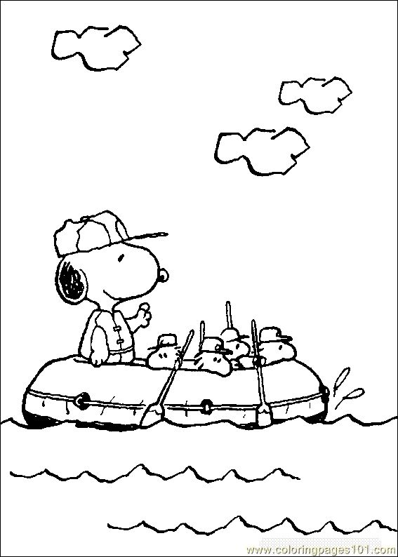 Coloring Pages Snoopy Page 14 Free Printable