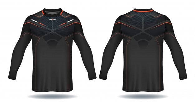 Download Long Sleeve Soccer Jersey Template Sport T Shirt Design Premium Vector Free Vector Freepik Vector Freebackgrou Soccer Jersey Tshirt Designs Sports Design