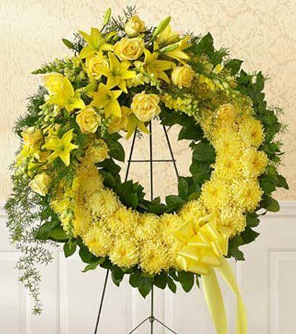 'Monochromatic Floral Wreath': Personalize your color - Carithers Flowers: Best Florist Atlanta, Unique Arrangements