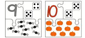 Juf Shanna: Herfstpuzzels (cijfers met aantal)