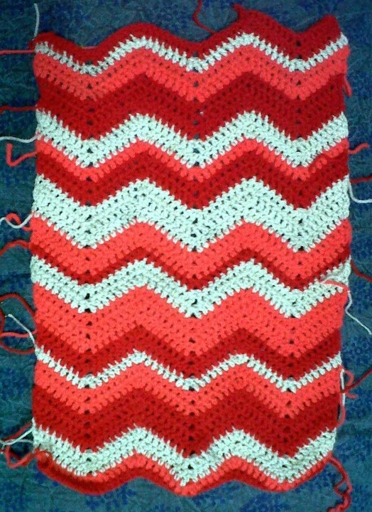 Crochet Patterns Zigzag : Zig-zag crochet pattern swatch Crochet -Patterns & Inspiration- P ...