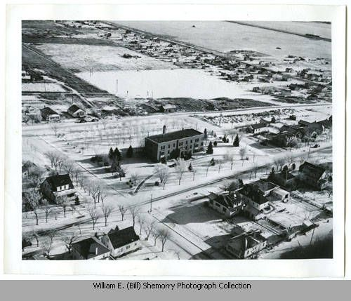 Aerial view of the Good Samaritan Hospital, Williston, N.D.