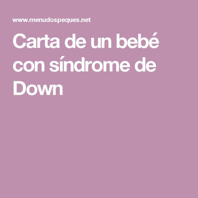 Carta de un bebé con síndrome de Down