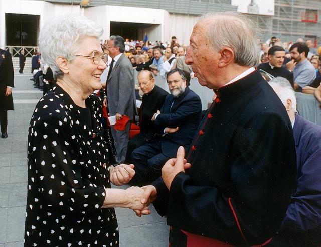 Chiara Lubich con Don Giussani