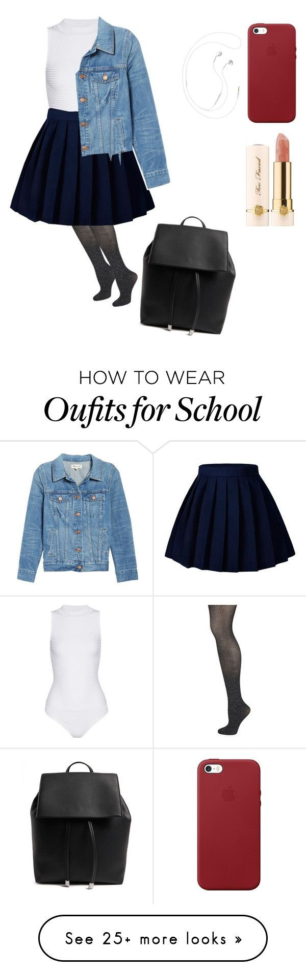 """"" by mpmiley on Polyvore featuring Wolford, Cushnie Et Ochs, Madewell, Forever 21, Apple and Too Faced Cosmetics"