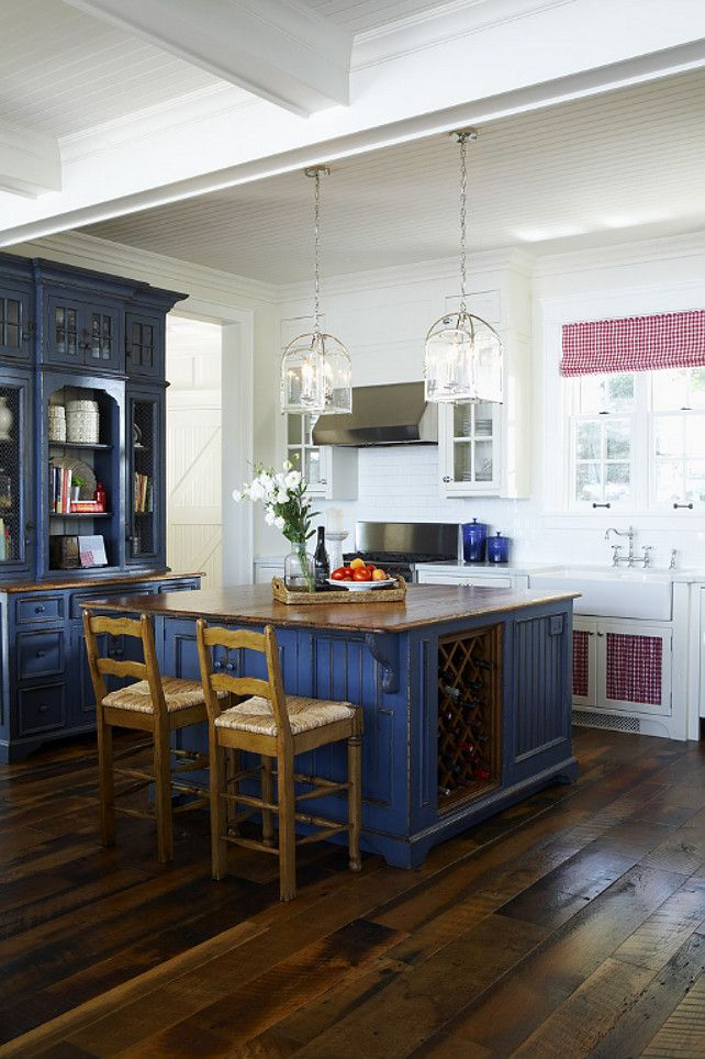 Navy Blue Kitchen Cabinet