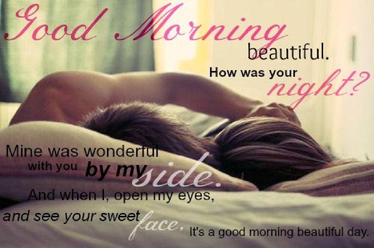 """Guten Morgen mein Liebling<3<3<3Hast du gut geschlafen?Ich bin aufgewacht mit dem Gefühl, als würdest du neben mir liegen und wir wären in """"unserem"""" Bett<3<3<3 es fühlte sich so schön an, so wunderbar vertraut, ich habe mich so wohl gefühlt bei dem Gedanken<3<3<3ich möchte deine Hände auf meiner Haut spüren<3<3<3ich möchte dich küssen :-***** Hase<3<3<3ich habe solche Sehnsucht nach dir<3<3<3ICH LIEBE DICH SOOOOOOOO SEHR MEIN ENGEL<3<3<3"""