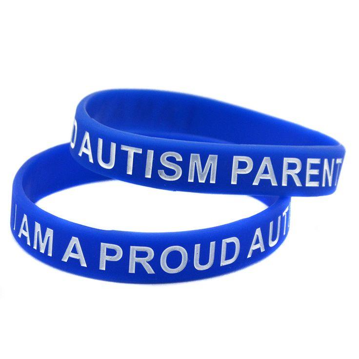 100PCS/Lot I Am A Proud Autism Parent Silicone Bracelet for Charity Activities