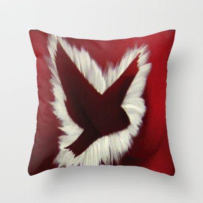 ThePeaceBombs - RedLight Throw Pillow by ThePeaceBombs - $20.00 #pillows #art #artwork #shopping #home #decor  http://society6.com/ThePeaceBombs www.miaaw.com https://www.facebook.com/marishags