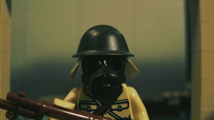A soldier of the Imperial Japanese Army with a gasmask during the Second Sino-Japanese War. the Japanese were known of preforming several gas attacks on cities in China. The most notable was during the Battle of Changde, but they were also used during the battle of Shanghai, but on a more smaller scale.   This picture depicts a Japanese soldier during a gas attack in Shanghai. It's a screenshot of my stop-motion brickfilm about the Second Sino-Japanese War.  Link to the project:   www.you...