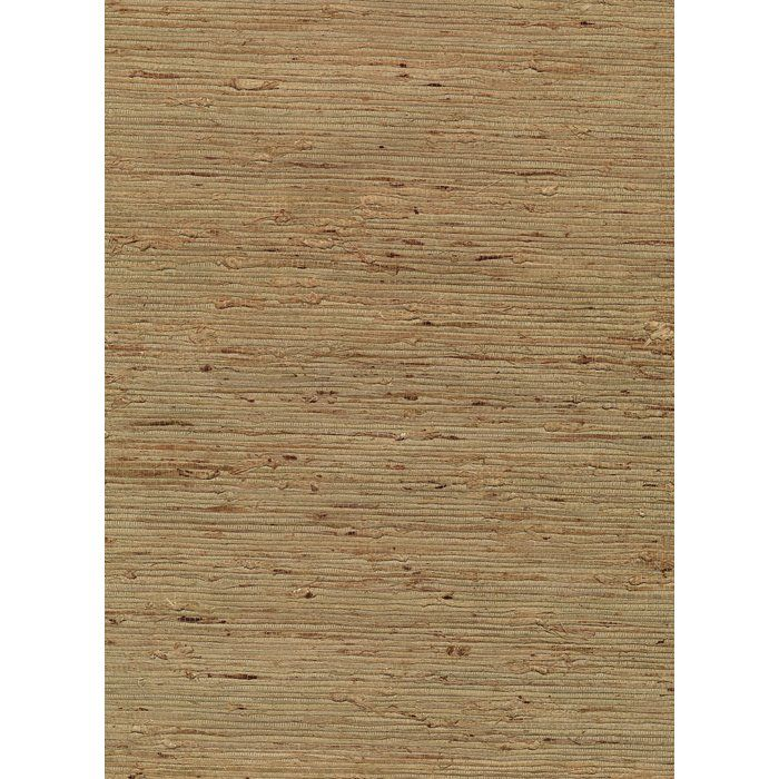 "Hayato Grasscloth 24' x 36"" Solid Roll Wallpaper"