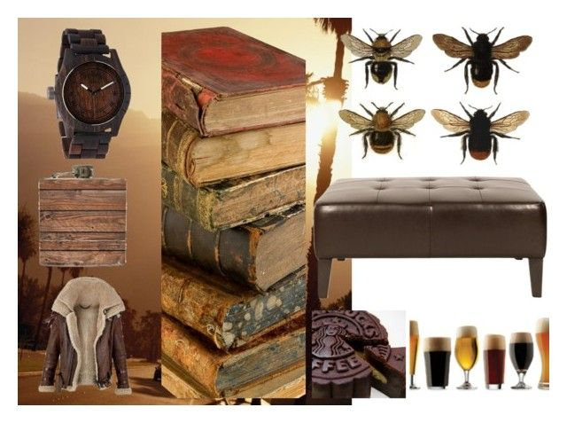 """""""man's world <3"""" by michal100-15-4 ❤ liked on Polyvore featuring Flud Watches, AND B, Orient Express Furniture, Burberry, clock, beer and whisky"""