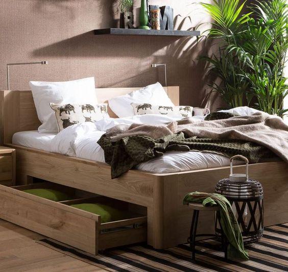 Doe een dutje in een urban jungle slaapkamer met ledikant Bibi // Goossens @ Villa ArenA