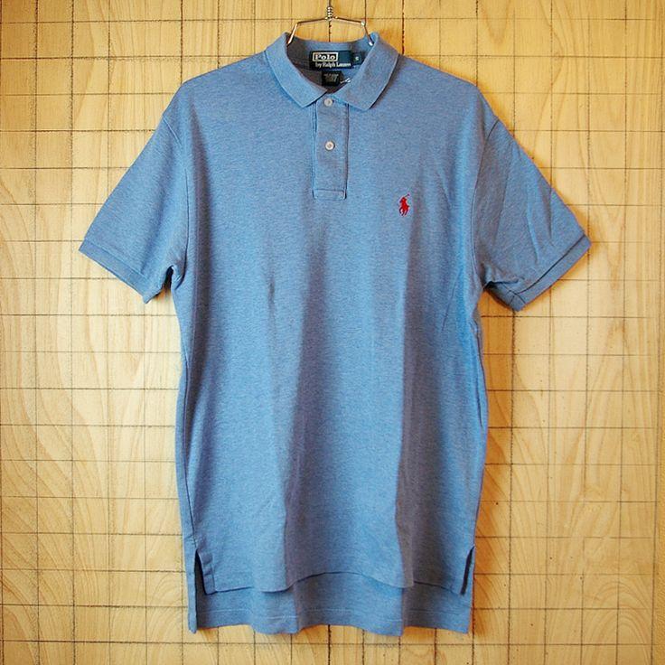 【Polo】古着ブルー(青)メンズ半袖ポロシャツ|メンズSサイズ【ポロ・ラルフローレン】