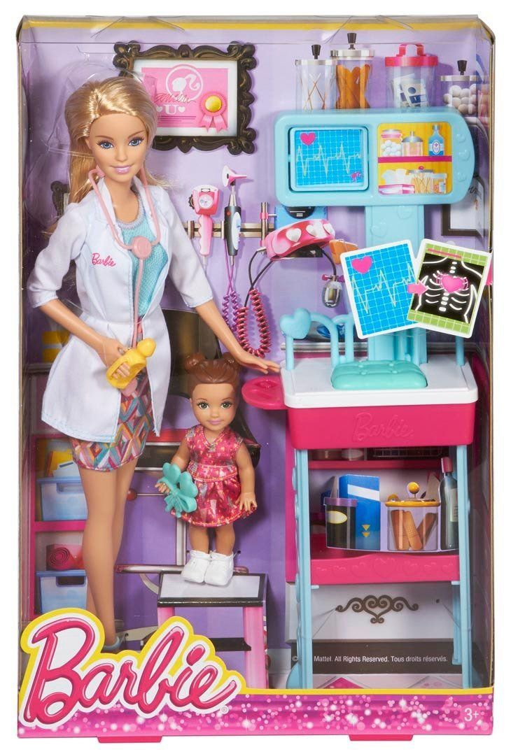 Amazon.com: Barbie Careers Pediatrician Doll and Playset: Toys & Games