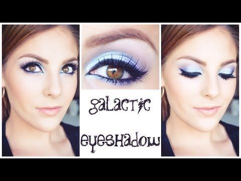 GALACTIC EYESHADOW TUTORIAL | featuring bh cosmetics galaxy chic palette - YouTube