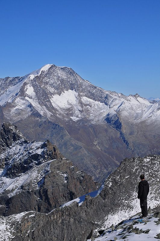 View of Alps from Saas Fee, Valais