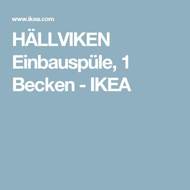 HÄLLVIKEN Einbauspüle, 1 Becken - IKEA