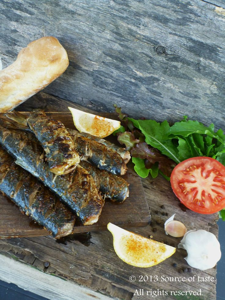 Grilled sardines (a healthy boost of omega-3 fatty acids)