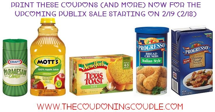 **PRINT NOW** Here are 8 GREAT Deals for the Upcoming Publix Ad that starts on 2/19 (2/18). Print the coupons now in case they are not around when the sale starts  ► http://www.thecouponingcouple.com/print-these-coupons-now-for-upcoming-publix-sale/  #Coupons #Couponing #CouponCommunity  Visit us at http://www.thecouponingcouple.com for more great posts!