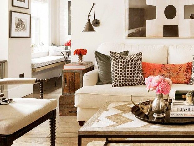 Inside a Manhattan Apartment With Rustic Charm: It's hard to believe this cozy home, designed by Jenny Wolf and photographed by Emily Gilbert for Trad Home, is in the heart of Manhattan. via @domainehome