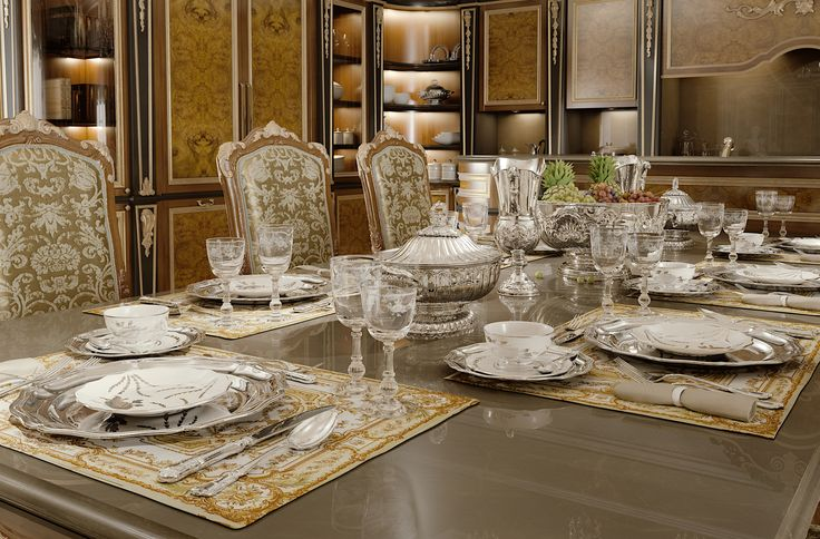 #luxury #table setting #sterling silver #schiavon