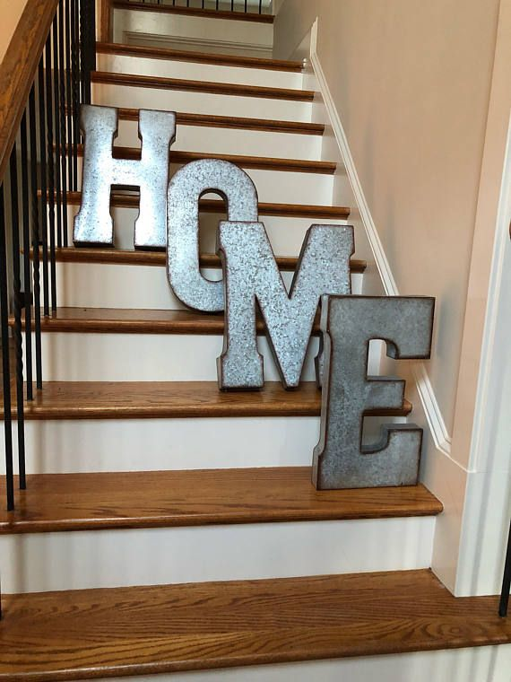 Wall Decor Galvanized Metal Letters