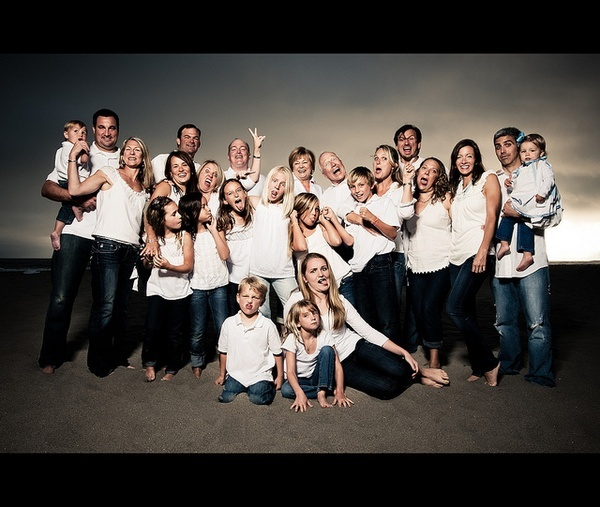 large group family photos - my family would so do this haha