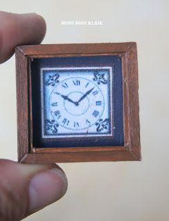 Voici mon troisième tutorial pour le calendrier de l'Avent 2016, une horloge gaine style grand'père.         Elle est réalisée entre aut...