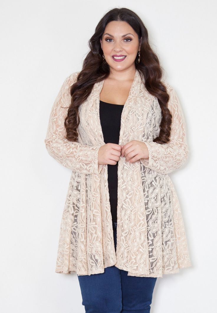 - THE FACTS - SIZING - FREE SHIPPING + RETURNS Our gorgeous new lace cardigan layers over dresses and tops for a dainty touch of femininity that keeps every look fresh and beautiful. Add something spe