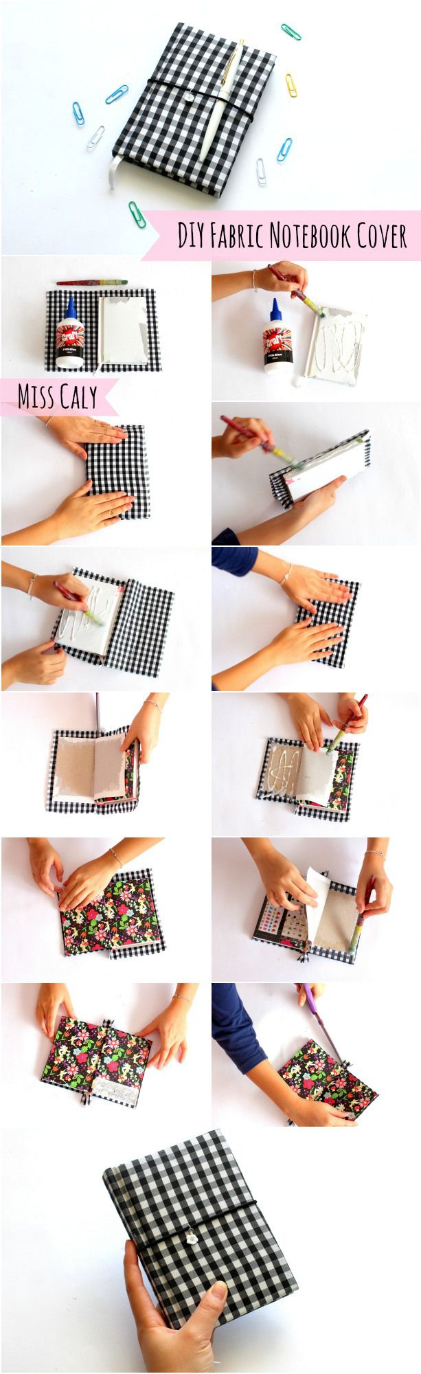 10 creative diy book cover ideas - Diy Personalised Fabric Notebook Cover With Pictures