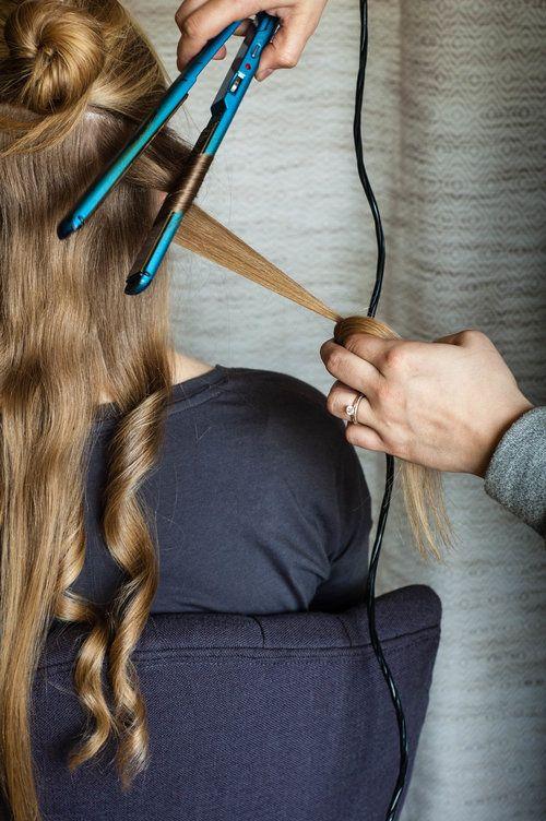 Streets of Gold Blog | Straightener Curls Tutorial