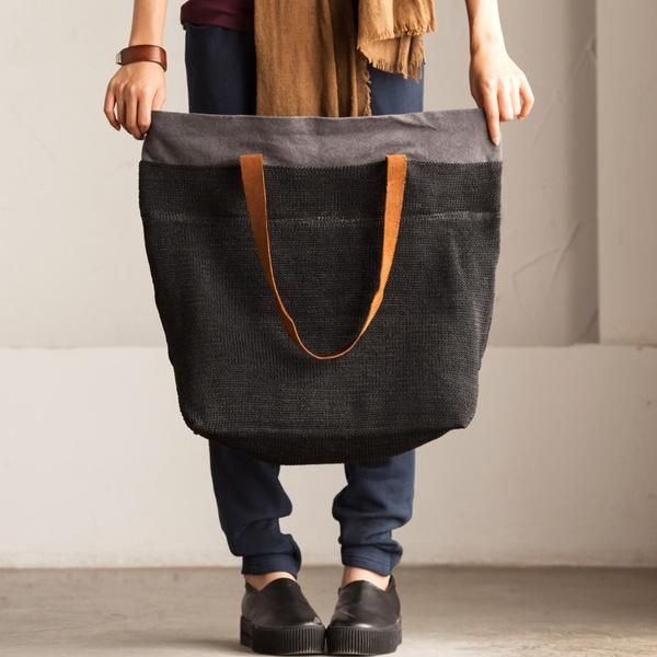 Black  Women canvas handbag