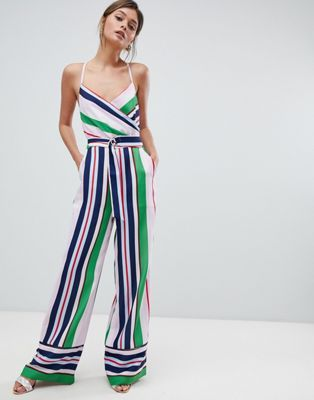 b0948dcfca89 Ted Baker Strappy Wrap Front Jumpsuit in Bay of Honor Stripe