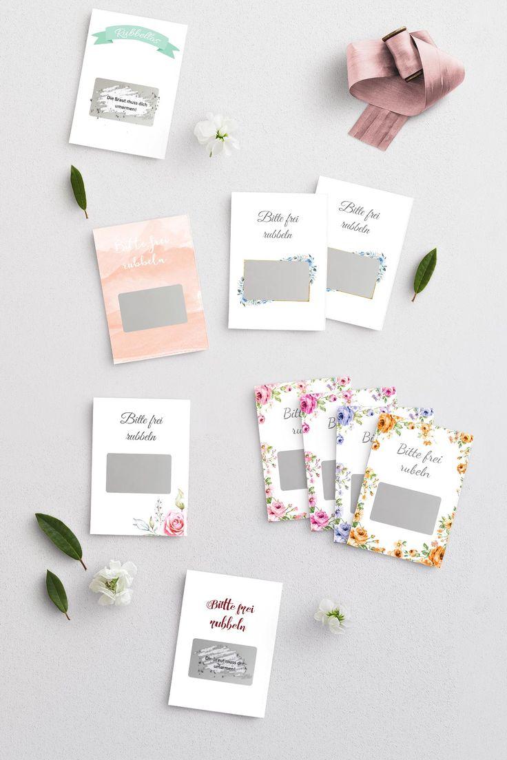 DIY Rubbellose für die Hochzeit: kostenlose Vorlagen als Download