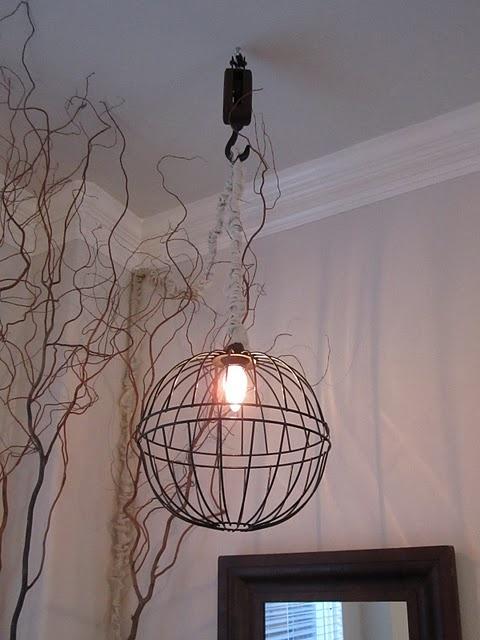 diy hanging basket chandelier but filled with fairy. Black Bedroom Furniture Sets. Home Design Ideas