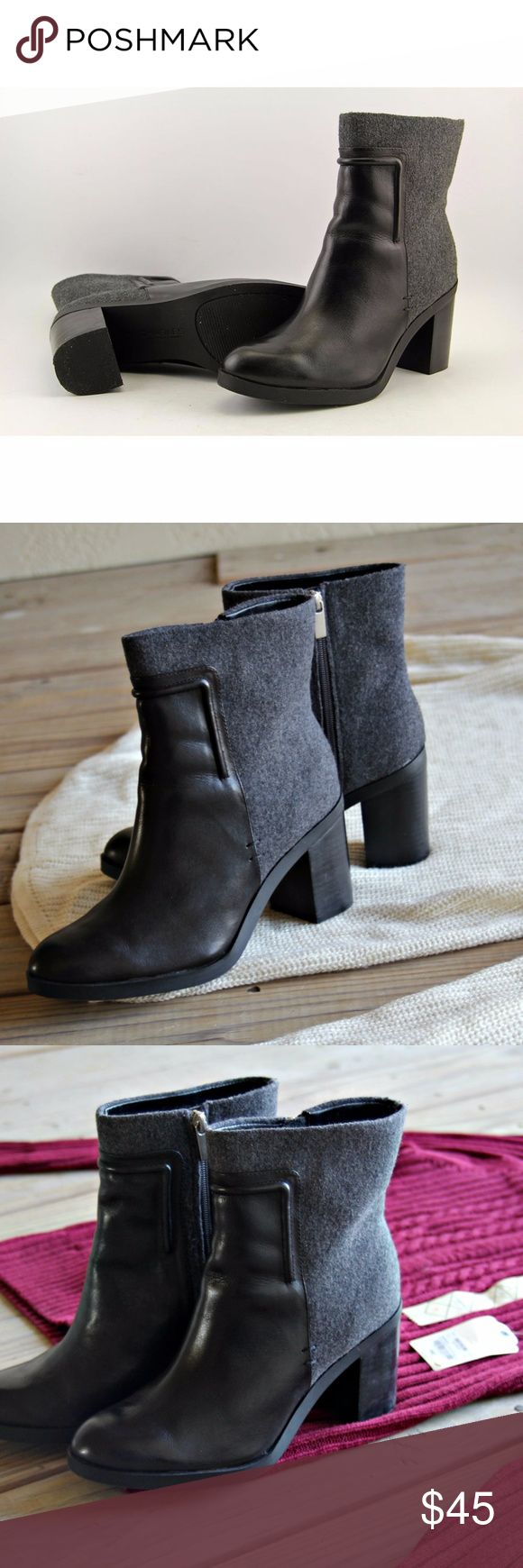 Charles by Charles David | Black Ankle Boots Gorgeous pair of black ankle booties from Charles by Charles David.  Very lightly used, in excellent condition. This are super classy. They have a chunky heel and felt material around the top that makes them so cozy and fun to style for colder weather. Size 8.5  Very quality pair of booties! Charles David Shoes Ankle Boots & Booties