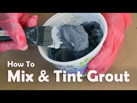 Mosaics 101: How To Mix and Tint Grout For Mosaics - YouTube