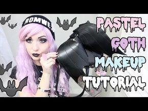 Pastel Goth Makeup Tutorial - YouTube #purple #pastel #goth
