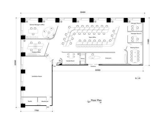 The 25+ Best Office Floor Plan Ideas On Pinterest   Open Space Office,  Office Floor And Interior Design Office Space