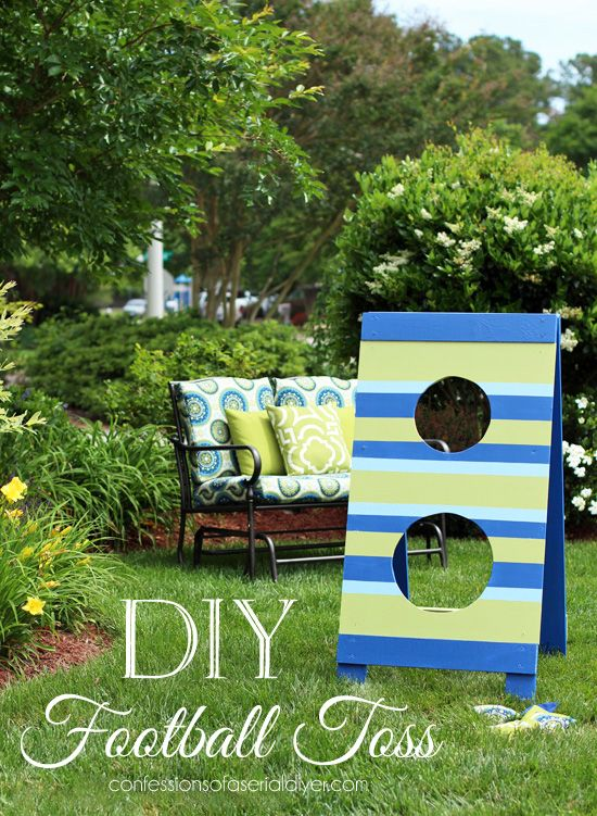 Fun DIY Football/Bean Bag Toss from Confessions of a Serial Do-it-Yourselfer
