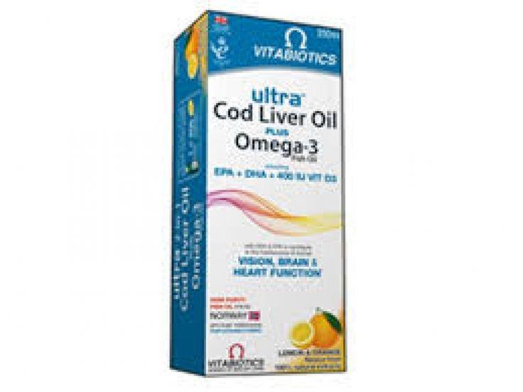 Vitabiotics Ultra 2 in 1 Cod Liver Oil (Aquamarine) Υψηλής ποιότητας Νορβηγικό ιχθυέλαιο με έκπτωση 50% *Έως Εξαντλήσεως των Αποθεμάτων Είναι μια μοναδική σύνθεση υγρής μορφής με συνδυασμό ωμέγα-3 ιχθυελαίων και μουρουνέλαιου σε αναλογία 1:1. Η σύνθεση περιέχει 4,52g ιχθυελαίων και 4,52g μουρουνέλαιου ανά 10ml (2 κουταλάκια του γλυκού), είναι συνεπώς μια εξαιρετικά πλούσια πηγή ωμέγα-3 λιπαρών οξέων. http://www.i-cure.gr/Product/3667/Page/452/el/#