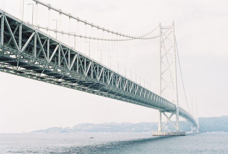 明石海峡大橋 <3 akashi kaikyo bridge in kobe (JAPAN), the world's longest suspension bridge.
