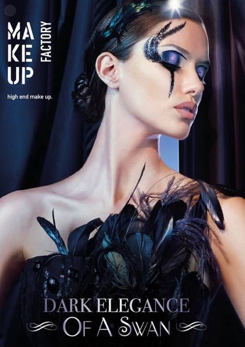 Рождественская коллекция макияжа Make Up Factory 2016-2017, Make Up Factory Dark Elegance of a Swan Collection Christmas Holiday 2016-2017