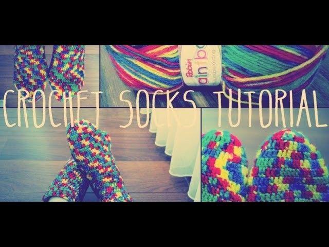 Crochet Socks Tutorial Part 1 of 2