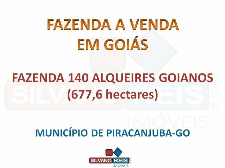 fazenda em goias a venda - SILVANO REIS IMÓVEIS (62) 8182-4401 (WhatsApp)  Atenção Fazendeiros e Investidores de todo o Brasil! Fazenda 677 Hectares (140 Alqueires Goianos) no Município de Piracanjuba-GO.  Toda Geo-referenciada.  Documentação Ok.  SILVANO REIS IMÓVEIS CF -20746 Fazendas a Venda em Goiás Imóveis Rurais a Venda em Goiás (62) 8182-4401 (WhatsApp) (64) 9257-6035 (64) 9901-4489 contato@silvanoreisimoveis.com.br www.silvanoreisimoveis.com.br