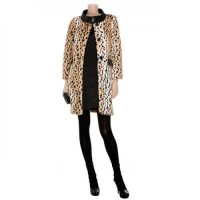 Купить женское леопардовое пальто