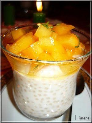 Limara péksége: Tápióka puding sharon gyümölccsel
